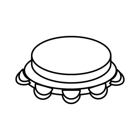 Pandereta música instrumento icono vector ilustración diseño gráfico Foto de archivo - 83261321