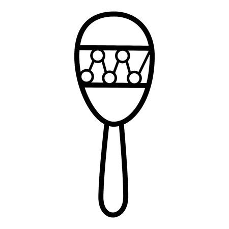 Maracas muziek instrument icoon vector illustratie grafisch ontwerp
