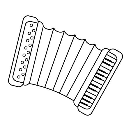 Accordion music instrument icon vector illustration graphic design