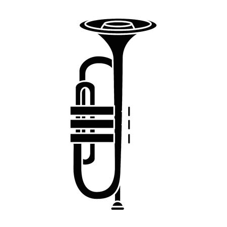 Trompette musique instrument icône illustration vectorielle conception graphique Banque d'images - 83261573
