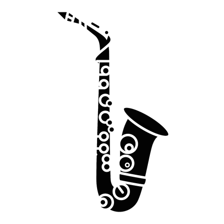 Saxophone music instrument icon vector illustration graphic design Ilustração
