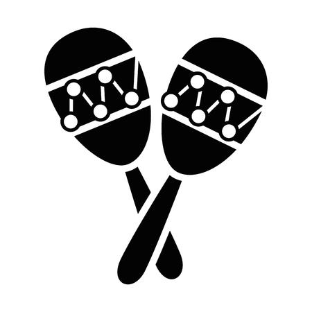 Maracas music instrument icon vector illustration graphic design