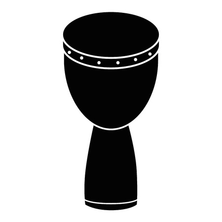 Afrikaans van de het instrumentpictogram van het trommelmuziek vector de illustratie grafisch ontwerp Stock Illustratie