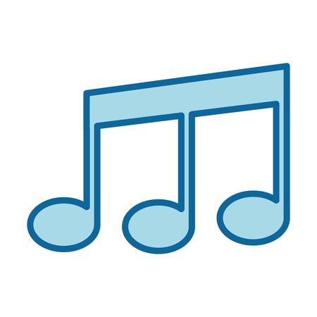 Musique note symbole icône illustration vectorielle conception graphique Banque d'images - 83261841