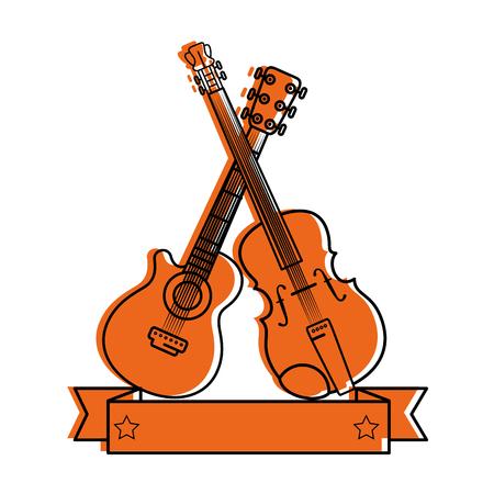 business graphics: Music instrument emblem label icon vector illustration graphic design