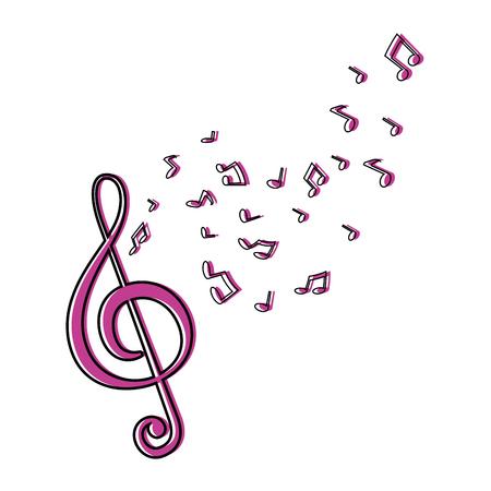 음악 메모 기호 아이콘 벡터 일러스트 그래픽 디자인 일러스트