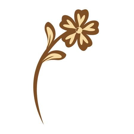 白い背景のベクトル図の上の花びらを持つ美しい花