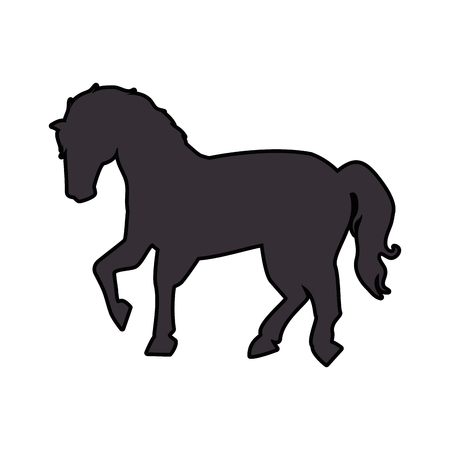 horse icon image over white background vector illustration