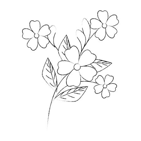ガーデニングの白い背景の上の美しい花ベクトル イラスト