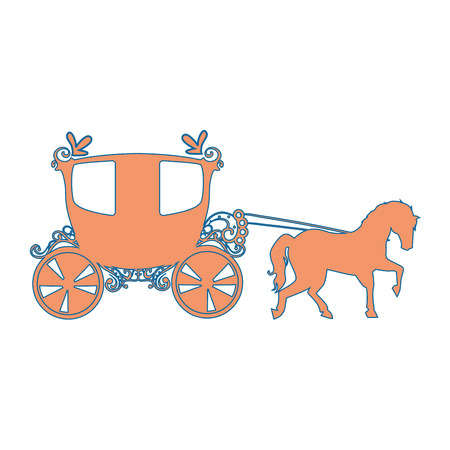 medieval carriage icon over white background vector illustration Stock Vector - 83264873