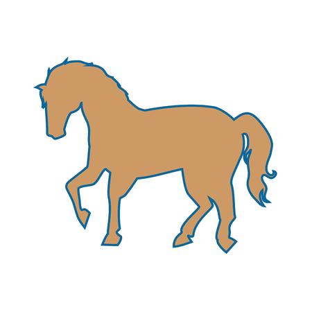 白い背景のベクトル図の上に馬アイコン イメージ