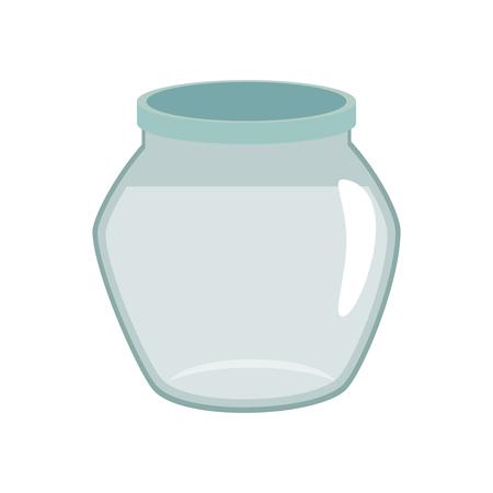 흰색 배경 벡터 일러스트 레이 션을 통해 물고기 그릇 아이콘 스톡 콘텐츠 - 83265489