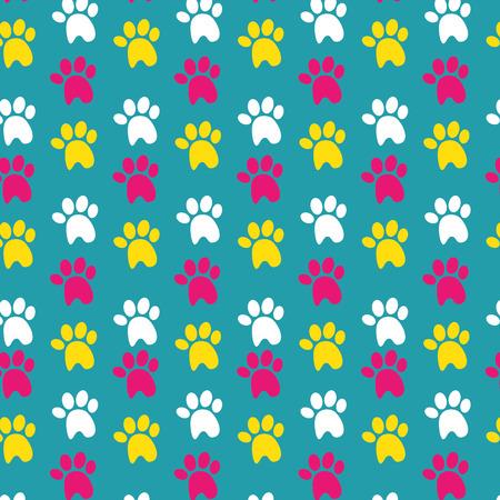 dog footprint background colorful design vector illustration