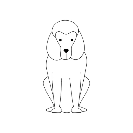 cartoon dog icon over white background vector illustration
