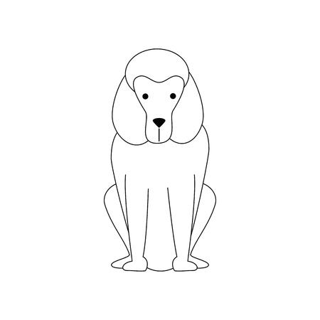 cartoon dog icon over white background vector illustration