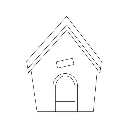 Hond huis icoon over witte backgorund vector illustratie