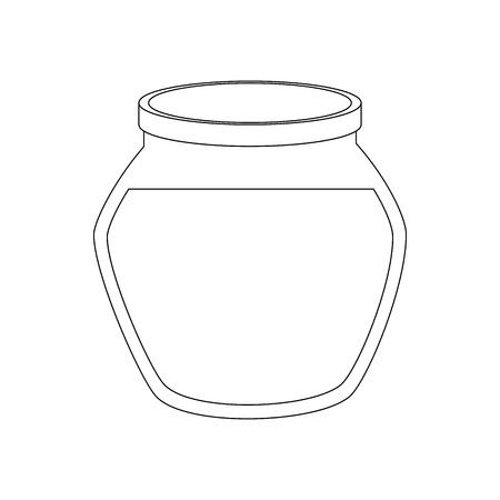 Bol de poisson icône sur fond blanc illustration vectorielle Banque d'images - 83280236