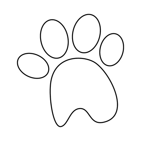 dog footprint icon over white background vector illustration