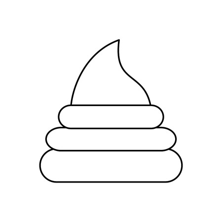 poop icon over white background vector illustration Çizim