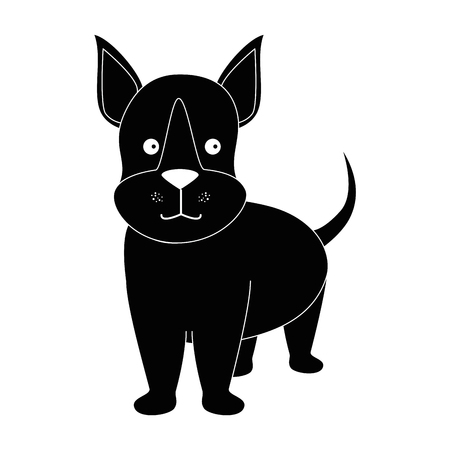 cartoon dog face icon over white background graphic design vector illustration
