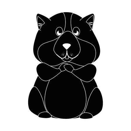 cartoon squirrel face icon over white background graphic design vector illustration