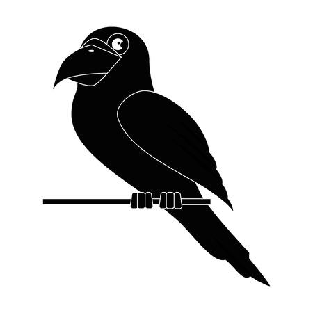 papegaai vogel pictogram over witte achtergrond grafisch ontwerp vectorillustratie