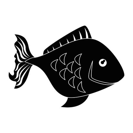 fish icon over white background vector illustration Illustration