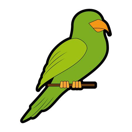 Papegaai vogel pictogram op witte achtergrond kleurrijke ontwerp vector illustratie Stockfoto - 83280596