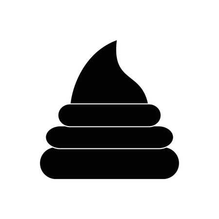 poop icon over white background vector illustration 向量圖像