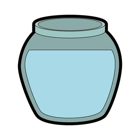Bol de poisson icône sur fond blanc illustration vectorielle Banque d'images - 83280654