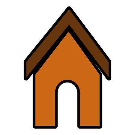 hond huis pictogram over witte backgorund vector illustratie