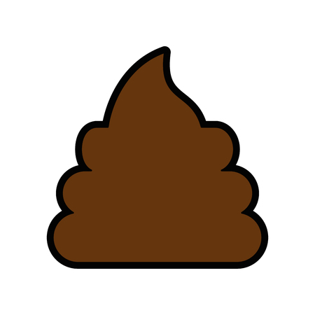 poop icon over white background vector illustration Illustration