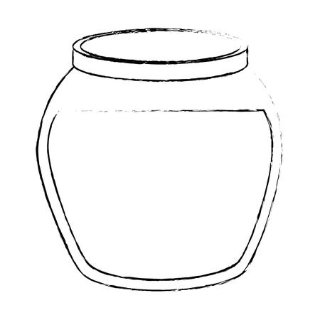 Icône de bol de poisson sur illustration vectorielle fond blanc Banque d'images - 83280736