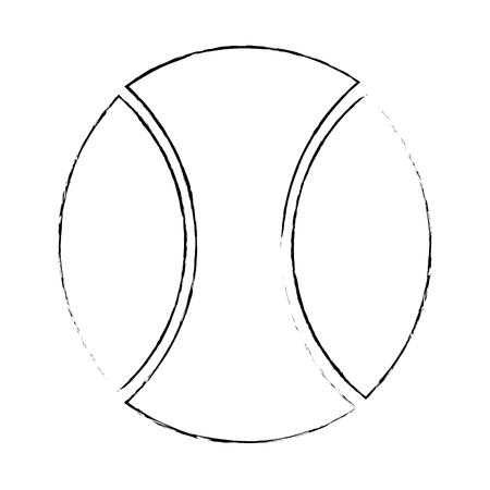 白い背景のベクトル図を野球のボールのアイコン