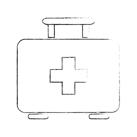 Icona del kit di pronto soccorso over white backgroudn illustrazione vettoriale Archivio Fotografico - 83280928