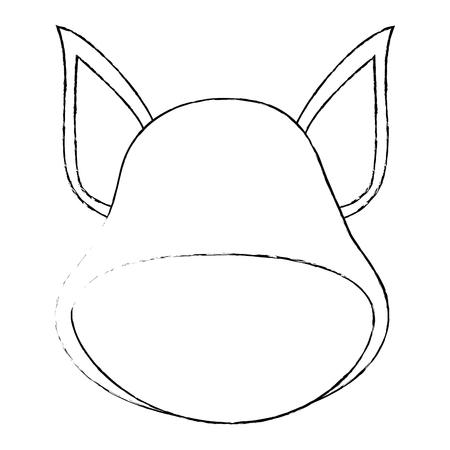 dog face icon over white background vector illustration Illustration