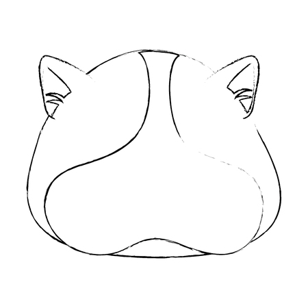 squirrel face icon over white background vector illustration