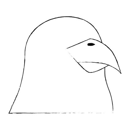 흰색 배경 벡터 일러스트 레이 션 위에 앵무새 조류 아이콘