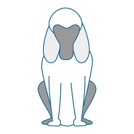 dog icon over white background colorful design vector illustration Ilustração