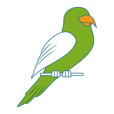 Papegaai vogel pictogram op witte achtergrond kleurrijke ontwerp vector illustratie Stockfoto - 83280103