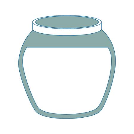 Vis kom icoon over witte achtergrond vector illustratie Stock Illustratie