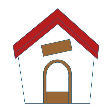 hond huis pictogram over witte achtergrond vectorillustratie Stock Illustratie