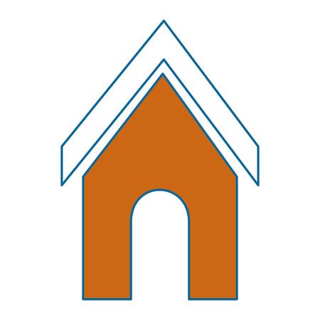 dog house icon over white background vector illustration
