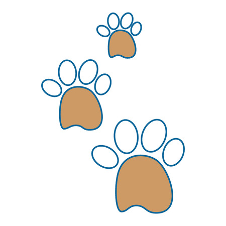 dog footprints icon over white background vector illustration