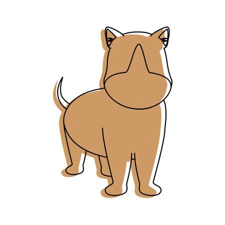 dog icon over white background colorful design vector illustration Illustration