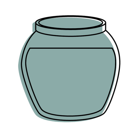 Fish bowl icon over white background vector illustration