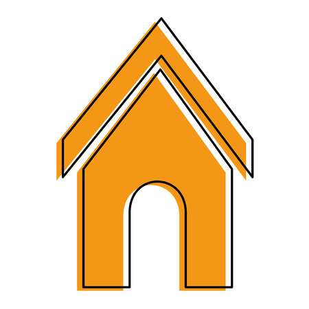dog house icon over white backgorund vector illustration