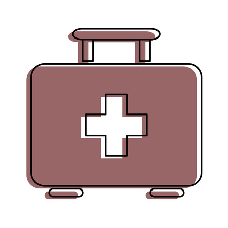 first aid kit icon over white backgroudn vector illustration 向量圖像