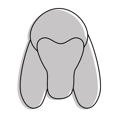 cartoon dog face icon over white background colorful design vector illustration Illustration