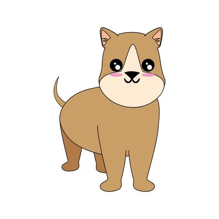 Caricatura, perro, cara, icono, encima, blanco, Plano de fondo colorido, diseño, vector, Ilustración Foto de archivo - 83281327